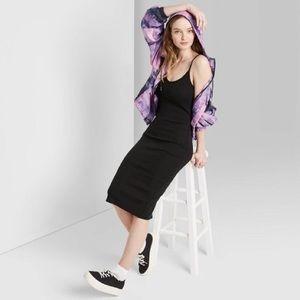 NWT Target Sleeveless U Neck Knit Midi Black - S